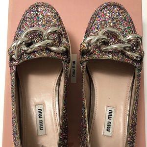 MiuMiu glitter shoes